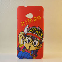 plastic back cover pc hard case cute cartoon one piece case for htc one m7