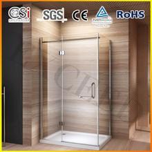 2015 New Design Hinged Shower Door Enclosure Glass Screen Cubicle 1400-1600mm