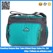 600D polyester small school messenger bag sports shoulder bags