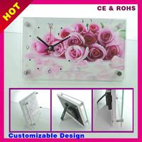 Client designs accepted cheap desk decoration table desktop clock