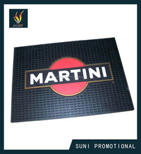 Custom non-slip Soft PVC beer bar ma,Bar drip mat with logo