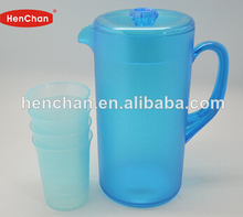 1600ml Clear plastic kettle jug with 4 cups