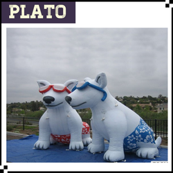 Promotion inflatable couple dog , gaint inflatable couple dog