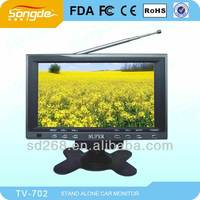 Mini 7'' TFT LCD CAR TV with dual video