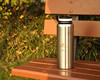 Stainless steel drinking bottle with wide mouth, thermal vacuum bottle with flat cup, stainless steel camping bottle