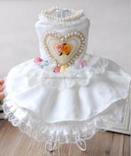 wholesale luxury dog wedding dress,dog skirt with factory price
