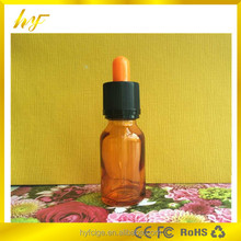 dropper sealing type 15ml orange transparent glass bottle with child&tamper proof cap and orange bulb
