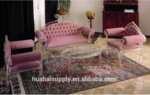 elegance princess leisure acrylic furniture sofa set for home or hotel