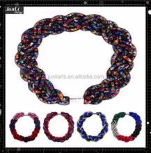Wholesale Handmade Crystal Necklace Stardust Necklace Stretch Mesh Necklace With Full Crystals