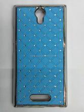 2015 New Crystal Bling Diamond Star Chrome Hard Case Back Cover for OPPO U3