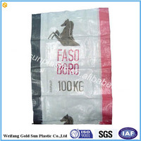 Client costom horse feed bag pp woven bag with printing logo