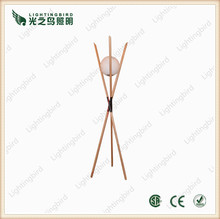 Large Industrial Wood Lamp Decoration Tripod Wooden Floor Lamp
