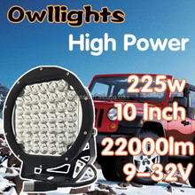 lighting accessories and auto parts ,OWLLIGHTS new products 225w led driving light round, 10inch led offroad spotlights