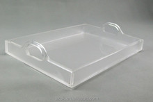 hot sale fashion high quality acrylic tray with handle