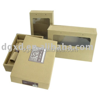 Custom design corrugated paper board window box, gift box with window