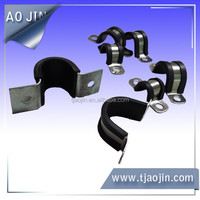 fixing clamp with rubber,N type strip clamp