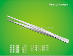 High precision stainless steel tweezers for medical use AK-FL series