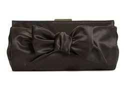 2014 Satin Bow Clutch/Evening bag