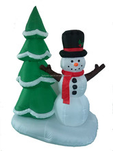 180cm/6ft high inflatable Christmas snowman ,Christmas tree infltable decoration