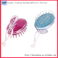 Plastic head shampoo brush