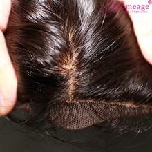 Homeage silk invisible part closure malaysian virgin hair dark brown silk top closure