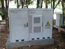 DDTE040 Aluminum Made Heat Insulation Outdoor Telecom Cabinet With Three Compartments (MDF, Equipment, Battery)