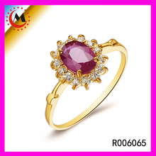 Latest 2015 Morganite 22k Gold Diamond Ring Female Finger Ruby Ring