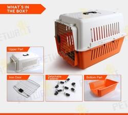 Super design FC-0702 plastic pet carrier dog flight kennel