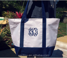 Personalized Monogram Canvas Tote Bag in Stock