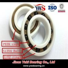 ZrO2 inner rings Si3N4 balls PEEK cage 6005 ZrO2 Full ceramic bearing