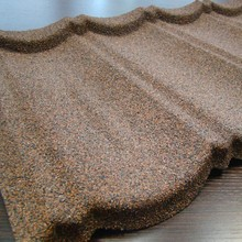 stone coated metal roof tile low cost roof material