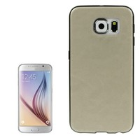 Cellphone Accessories Leather Coated TPU Protective Case for Samsung Galaxy S6
