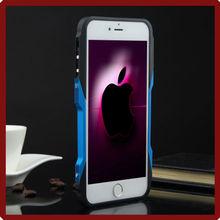 Colorido marco del Metal de lujo parachoques frontera del caso para el iPhone6