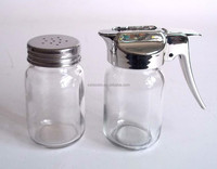 glass spice jar with metal lid