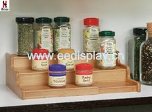 NEW 3-Tier Expandable Bamboo Spice Rack Step Shelf
