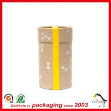 custom recyclable kraft paper round cardboard cylinder box pencil package