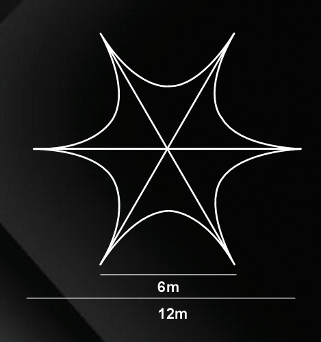 star tent measurement 12m b
