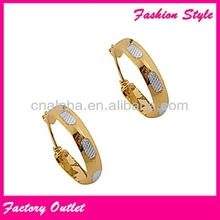 fashion stainless steel basket ball earrings for young lady