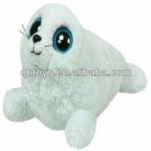 Cute white plush baby seal toys