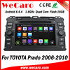 Wecaro Android 4.4.4 car dvd player in dash audio car system for toyota prado bluetooth 2006 - 2011