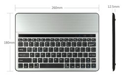 Aluminum Bluetooth Keyboard With Tablet Stand For Universal Tablet Below 10.1