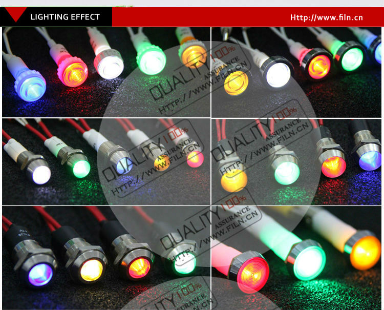 Hot led ring light cooper material colorful with wire 6V