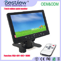 "DC 12V input 16:9 touch 7"" lcd car monitor with HDMI Input"