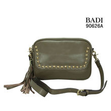 badi shoulder tassel metal rivets 2012 womens handbag new arrival handbag