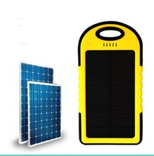 Colorful Solar power bank rechargeable 6000mah mobile power bank with handle and Hook Buckle