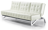 New Arrival Elegant Click Clack Leather Sofa Bed