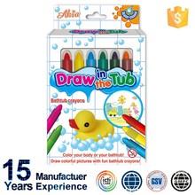 EU and US Standards Non toxic 6 Colors Kids Bath Crayons