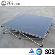 Top quality hotsell aluminum portable plywood stage