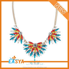 Small Quantity Order Colorful Flower Charm Necklace Jewlery For USA Market