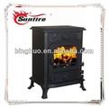 Moderno ja013s mini estufas de hierro fundido/prity de hierro fundido estufa de madera